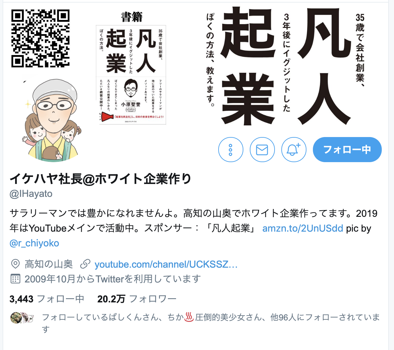 イケハヤのTwitter