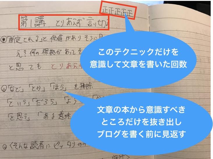ブログの文章術ノート