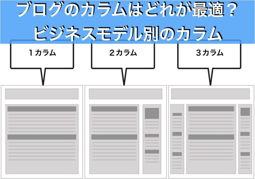 ブログのビジネスモデルのカラム