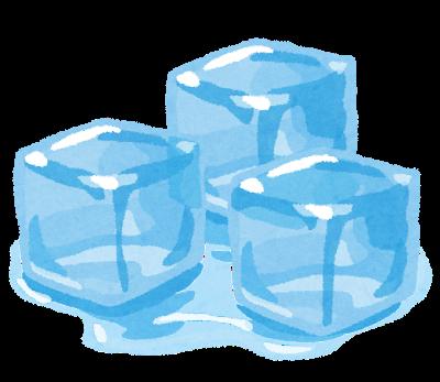 氷が溶ける